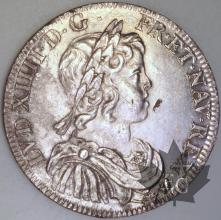 FRANCE-1644A-1/2 Ecu  .rose. G. 168 TTB-Louis XIV