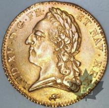 FRANCE-1774D-Double Louis or   G. 347  SUPFDC-Louis XV