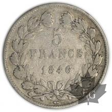 FRANCE-1846K-5 Francs Louis-Philippe  G. 678   TB+