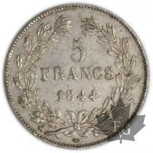 FRANCE-1844B-5 Francs Louis-Philippe  G. 678   TTB+