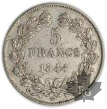 FRANCE-1844A-5 Francs Louis-Philippe  G. 678   TTB+