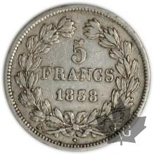FRANCE-1838K-5 Francs Louis-Philippe  G. 678  TTB+