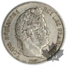FRANCE-1835A-5 Francs Louis-Philippe  G. 678  TTB+
