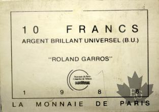 FRANCE-1988-10 FRANCS ROLAND GARROS