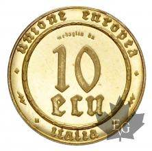 ITALIE-1995-10 ECU ESSAI-PROOF