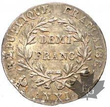 FRANCE-1802 AN XIA-1/2 FRANC-SUP