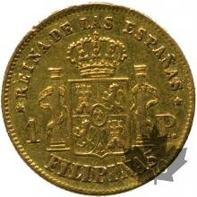 PHILIPPINES-1863-1 PESO-ISABEL II-SUP