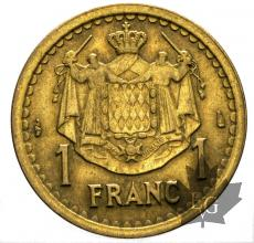 MONACO-1943-ND-1 FRANCS-LOUIS II-TTB-SUP