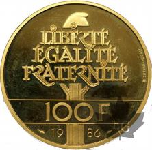 FRANCE-1986-100 FRANCS-PROOF