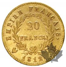FRANCE-1812U-20 FRANCS-1ER EMPIRE-TTB+