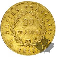 FRANCE-1813CL-20 FRANCS-1ER EMPIRE-TTB+