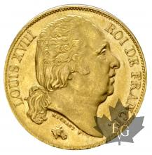 FRANCE-1819A-20 FRANCS-LOUIS XVIII-prSUP