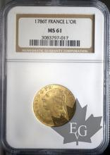 FRANCE-1786T-LOUIS XVI-LOUIS D'OR-NGC MS61