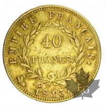 FRANCE-1813CL-40 FRANCS-PREMIER EMPIRE-TTB+
