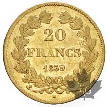 FRANCE-1839A-20 FRANCS-LOUIS PHILIPPE-SUP