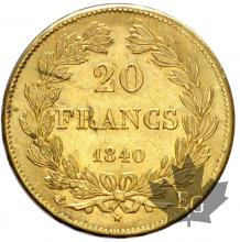 FRANCE-1840A-20 FRANCS-LOUIS PHILIPPE-prFDC