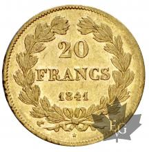 FRANCE-1841A-20 FRANCS-LOUIS PHILIPPE-prSUP