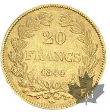 FRANCE-1844W-20 FRANCE-LOUIS PHILIPPE-TTB-SUP