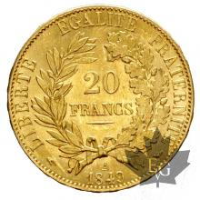 FRANCE-1849A-20 FRANCS-CERES-SUP+