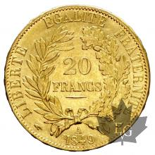 FRANCE-1849A-20 FRANCS-CERES-prSUP