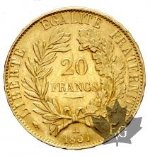 FRANCE-1851A-20 FRANCS-CERES-SUP+