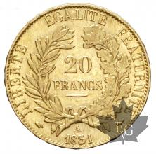 FRANCE-1851A-20 FRANCS-CERES-SUP