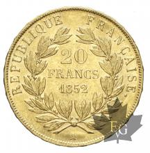 FRANCE-1852A-20 FRANCS-L.N. BONAPARTE-prSUP