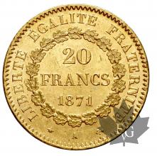 FRANCE-1871A-20 FRANCS-III REPUBLIQUE-SUP-FDC