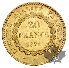 FRANCE-1874A-20 FRANCS-III REPUBLIQUE-SUP
