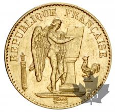 FRANCE-1879A-20 FRANCS-III REPUBLIQUE-TTB+