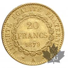 FRANCE-1879A-20 FRANCS-III REPUBLIQUE-prFDC