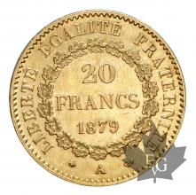 FRANCE-1879A-20 FRANCS-III REPUBLIQUE-SUP