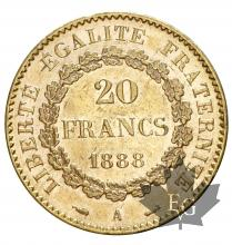 FRANCE-1888-20 FRANCS-III REPUBLIQUE-SUP+