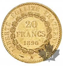 FRANCE-1890-20 FRANCS-III REPUBLIQUE
