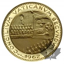 VATICAN-1962-MEDAILLE OR-PROOF-17.5gr
