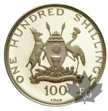 UGANDA-100 SHILLINGS-1969-PROOF