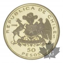 CHILE-1968-50 PESOS-PROOF