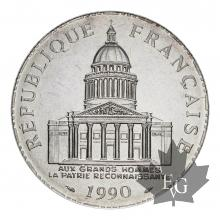FRANCE-1990-100 FRANCS-PANTHEON-FDC