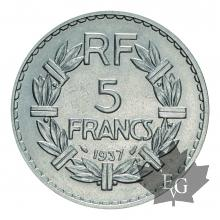FRANCE-1937-5 FRANCS-III ème REPUBLIQUE-prSUP
