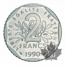 FRANCE-1990-2 FRANCS-V eme REPUBLIQUE-FDC