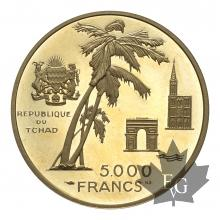 TCHAD-1970-5000 FRANCS-PROOF