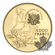 TCHAD-1970-3000 FRANCS-PROOF