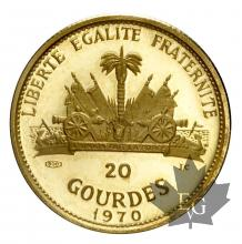 HAITI-1970-20 GOURDES-PROOF