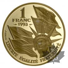FRANCE-1993-1 FRANC-OMAHA BEACH-PROOF