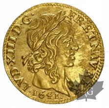 FRANCE-1641A-LOUIS XIII-1610-1643-1/2 LOUIS OR-SUP