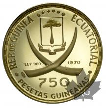 GUINEA EQUATORIAL-1970-750 PESETAS-KM29-PROOF