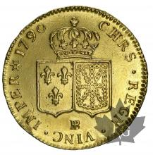 FRANCE-1790BB-LOUIS XVI-1774-1793-DOUBLE LOUIS OR-TTB