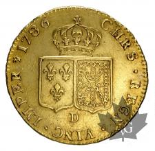 FRANCE-1786D-DOUBLE LOUIS-LOUIS XVI-prSUP