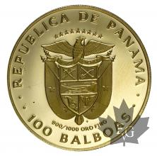 PANAMA-1975-100 BALBOAS-PROOF