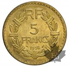 FRANCE-1938-5 FRANCS-prSUP